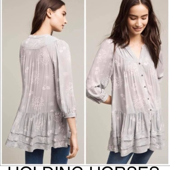 Anthropologie Tops - 🔴SOLD HOLDING HORSES ANTHRO TUNIC S